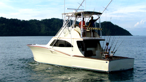 fishing charter boat in Los Suenos costa rica