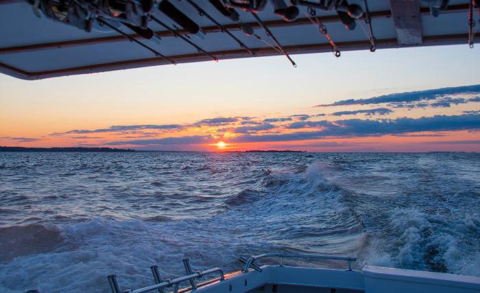 Boat trip at dusk