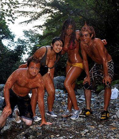 mud bath in Costa Rica