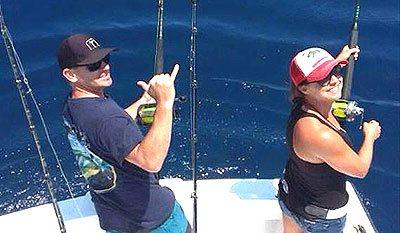 Couple Fishing in Los Suenos Costa Rica