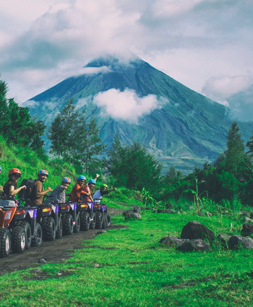 ATV Tours with a view of the Volcano