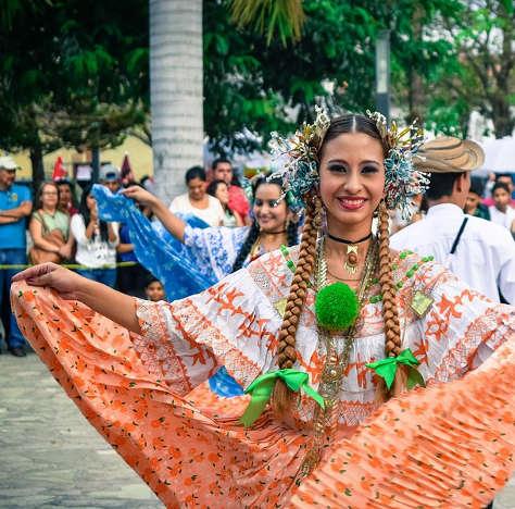 Folkloric dance in Costa Rica