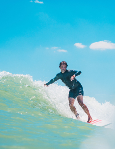 man surfing in Costa Rica