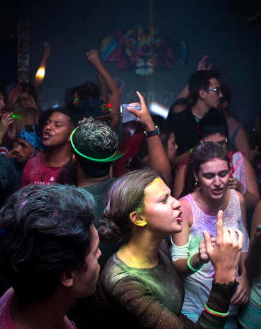 People in party