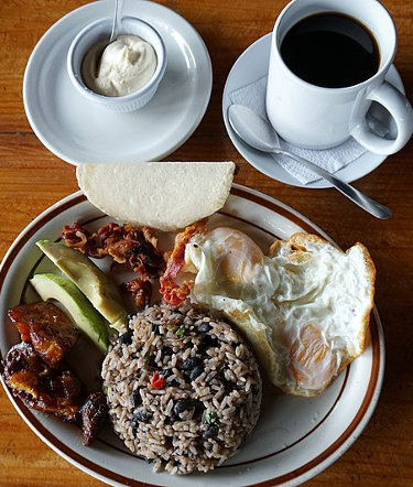 Tipical Costa Rican Breakfast