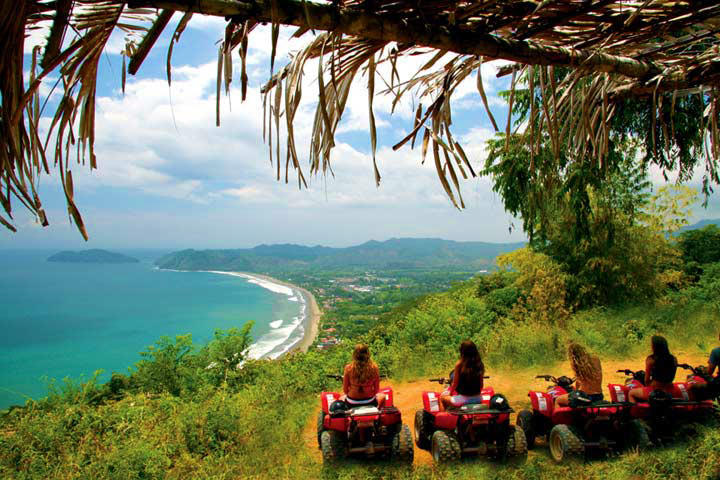 amazing ocean view on an ATV