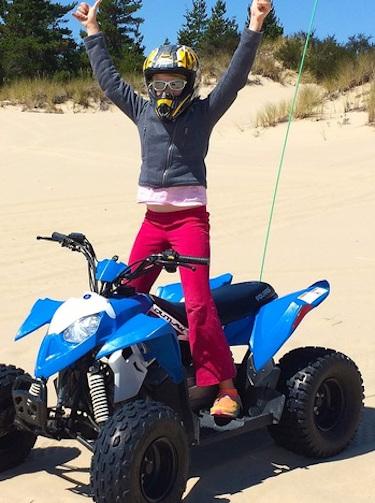 Girl enjoying her ATV tour