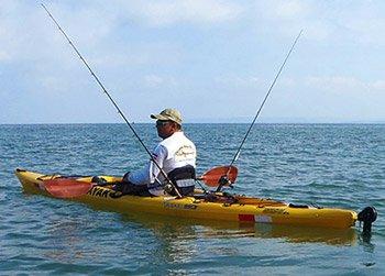 man fishing in Jaco