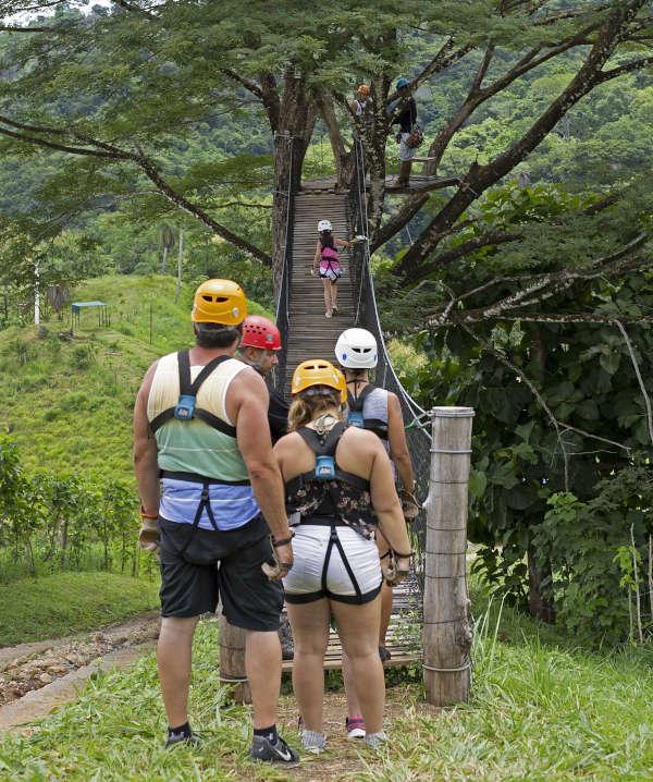 Line for zipline in costa rica
